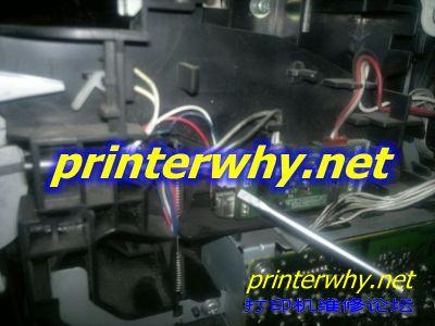 兄弟7340更换纸盒传感器拆机图解教程